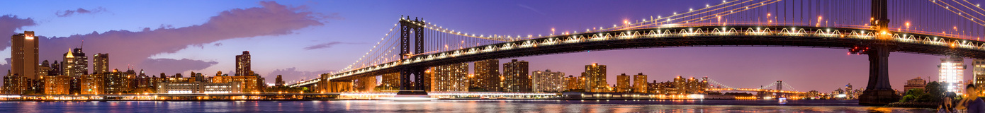Manhattan Bridge Panorama - New York Skyline